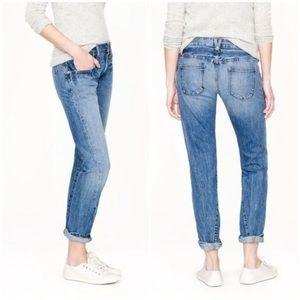 💙 J. Crew Broken In Boyfriend Ankle Crop Jeans 32